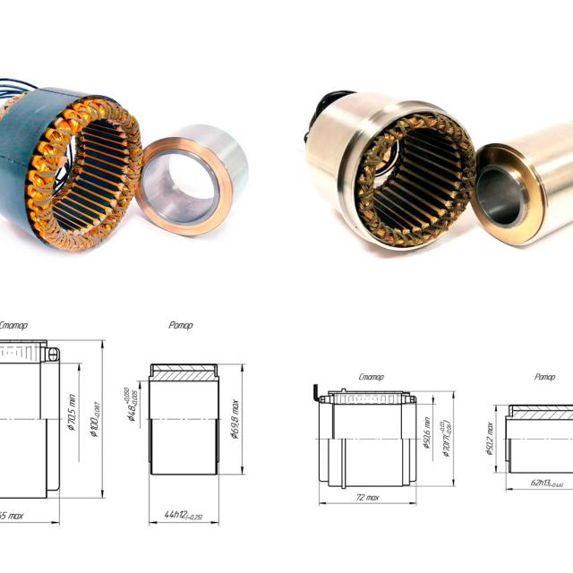 Разработка и изготовление новых типов электродвигателей для движителей подводных аппаратов Россия. Заказать разработку электродвигателя в России