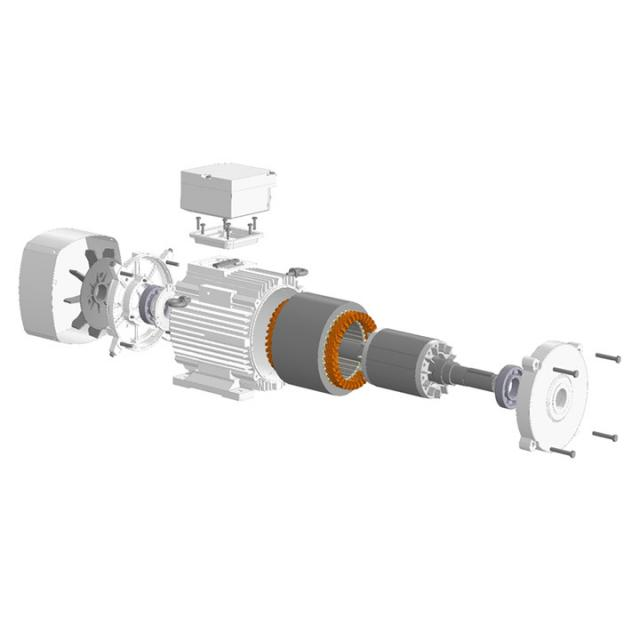 Разработка ряда синхронных электродвигателей с постоянными магнитами класса энергоэффективности IE3 и IE4